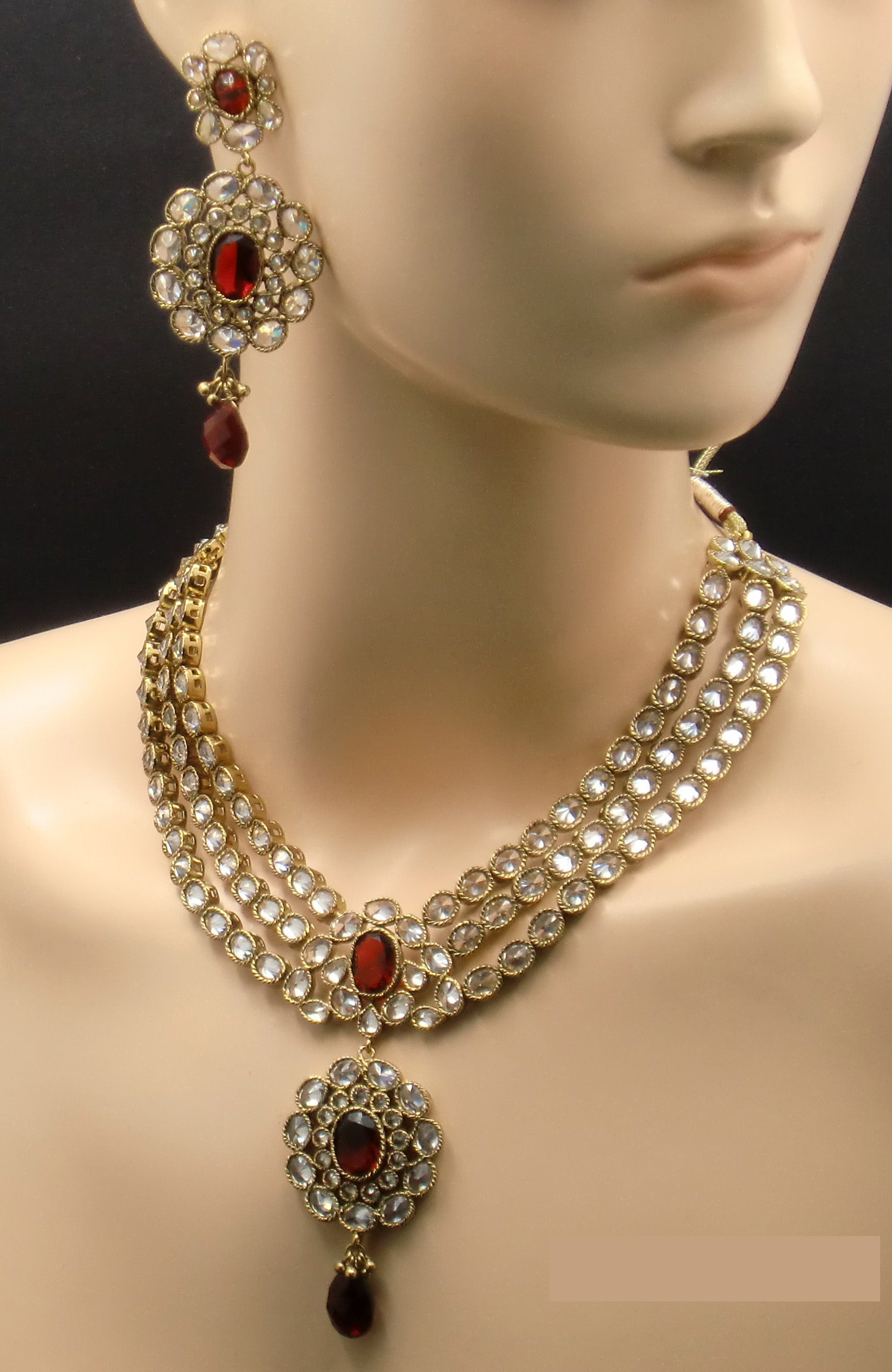 diamond jhumka original online designers buy designs ruby earrings and american daamak